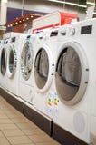 Ligne des machines à laver Photo stock