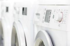 Ligne des machines de blanchisserie photo libre de droits