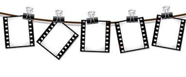 Ligne des négatifs sur film Images libres de droits