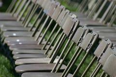 Ligne des sièges vides image libre de droits
