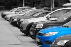 Ligne des voitures de tourisme photo libre de droits