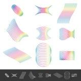 Ligne différente éléments de conception avec la couleur de spectre Illustration Libre de Droits
