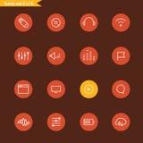 Ligne différente collection d'icônes de style Image stock