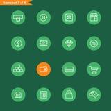 Ligne différente collection d'icônes de style Images stock