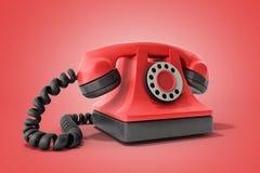 Ligne directe téléphone rouge de vintage de concept prenant un idéal d'appel pour c Photographie stock libre de droits