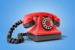 Ligne directe téléphone rouge de vintage de concept prenant un idéal d'appel pour c Photo stock