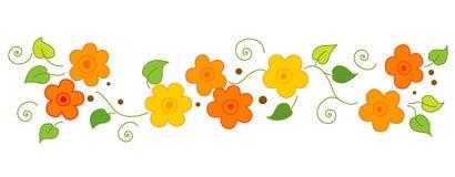 Ligne/diviseur de fleurs illustration stock