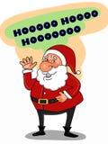 Ligne drôle de dessin de caractères de Santa Claus et fond blanc illustration libre de droits