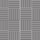 Ligne droite noire et blanche avec la ligne modèle de point d'armure Image stock
