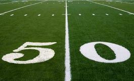 Ligne du terrain de football 50 Photo libre de droits