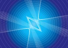 Ligne effet à l'arrière-plan bleu Image stock