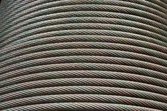 Ligne en acier courbe de câble Photo stock