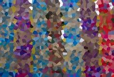Ligne en cristal colorée abstraite Photos stock