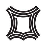 Ligne en cuir icône d'ensemble de vecteur de logo illustration stock