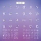 Ligne ensemble d'icône Photo stock