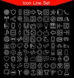 Ligne ensemble d'icône Photographie stock