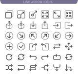 Ligne ensemble d'icône de flèche Photo stock