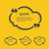 Ligne ensemble de citation de nuage illustration de vecteur