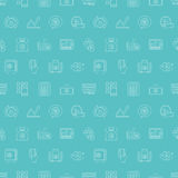 Ligne ensemble de finances d'affaires de modèle d'icône Image stock
