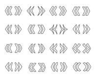 Ligne ensemble de Guillemets d'icône illustration de vecteur