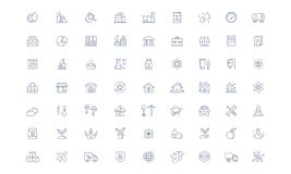 Ligne ensemble de vecteur d'industrie d'icône Illustration Libre de Droits
