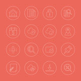 Ligne ensemble de Web d'icône Image libre de droits