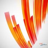 Ligne ENV de pirouette d'abrégé sur couleur de vecteur belle Images libres de droits