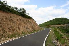 Ligne et courbe de route Photographie stock