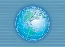 Ligne et globe Photos libres de droits