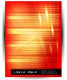 Ligne et onde abstraites de vecteur. orange Image libre de droits