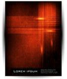 Ligne et onde abstraites de vecteur. orange Photos libres de droits