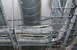 Ligne et transmission de fil photos stock