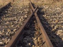 ligne et voies de chemin de fer fermées photos stock