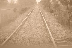 Ligne ferroviaire images libres de droits