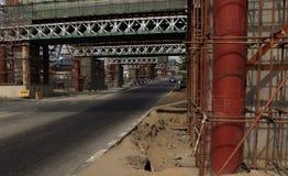 Ligne ferroviaire aérienne en construction au CMS Lagos Nigéria Photographie stock libre de droits