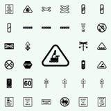 ligne ferroviaire de croisement icône Ensemble universel d'icônes ferroviaires d'avertissements pour le Web et le mobile illustration stock