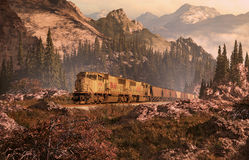 Ligne ferroviaire du Colorado Photo stock