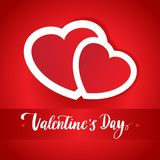Ligne fond de jour de valentines de lettrage de vintage Image libre de droits