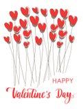 Ligne fond de jour de valentines de lettrage de vintage Photo libre de droits