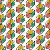 Ligne formes géométrique Conception abstraite de fond Images stock
