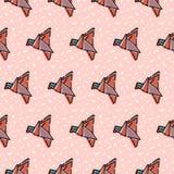 Ligne formes géométrique Conception abstraite de fond avec des oiseaux Image stock