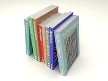 Ligne française multicolore de livres d'école illustration de vecteur