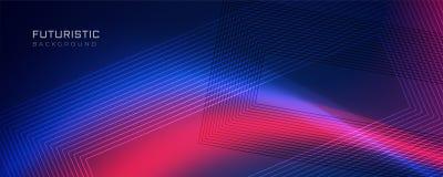 Ligne futuriste fond avec l'effet de la lumière illustration libre de droits