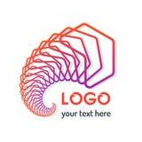 Ligne géométrique abstraite Logo Icon Background Vector Illu de modèle Images libres de droits