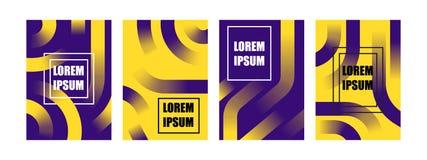 Ligne géométrique couverture de forme de gradient différent moderne abstrait réglé de page principale de fond illustration stock