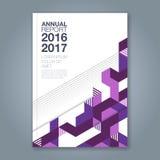 Ligne géométrique minimale abstraite fond pour le livre de rapport annuel d'affaires Photos libres de droits
