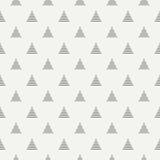Ligne géométrique modèle sans couture de hippie abstrait monochrome avec la triangle Papier d'emballage Papier d'album carrelage Photos libres de droits