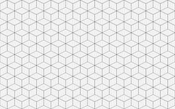 Ligne géométrique vecteur de cube de fond de résumé illustration libre de droits