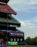 Ligne gauche Shea Stadium, Queens, NY Photos libres de droits