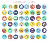 Ligne grand ensemble d'affaires et de finances d'icônes Photo stock